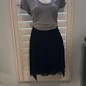 Free  People NWT. fringe mini skirt